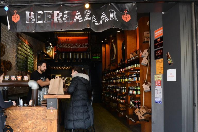 BeerBazaar in Tel Aviv offers approximately 100 Israeli brews