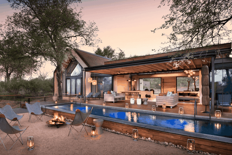 The Fish Eagle Villa swimming pool and fire deck
