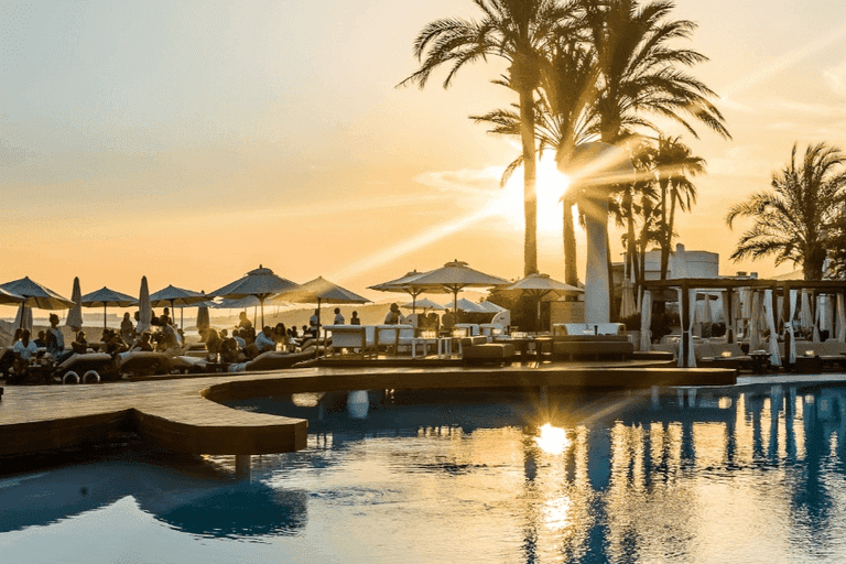 Sunset at Destino Pacha Ibiza Resort