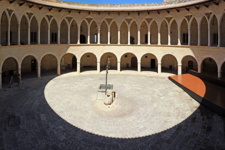 The circular inner courtyard of the Bellveer castle, Mallorca