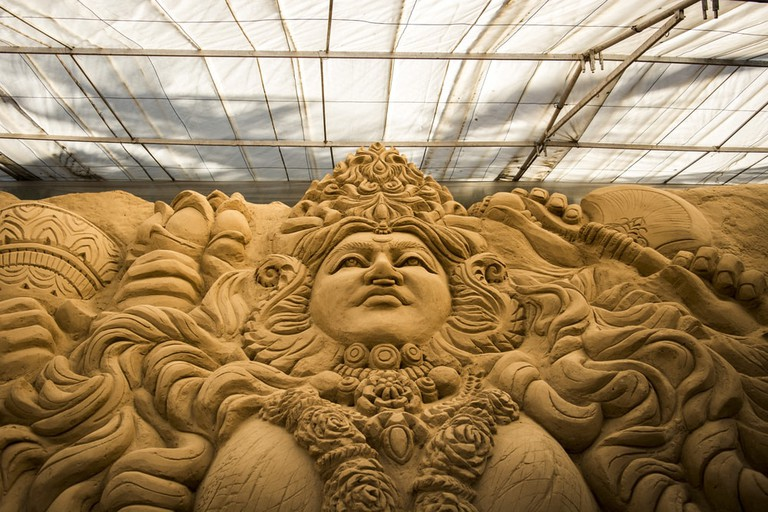 Sand sculpture in Mysore Sand Sculpture Museum