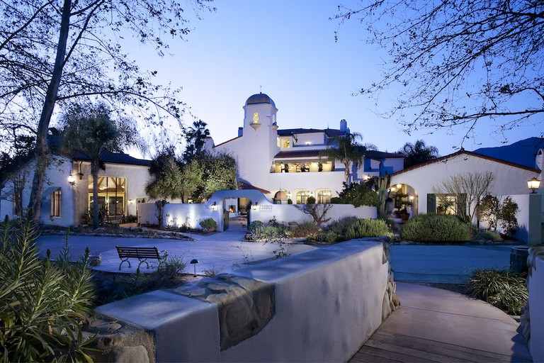 Spa Ojai in the evening.