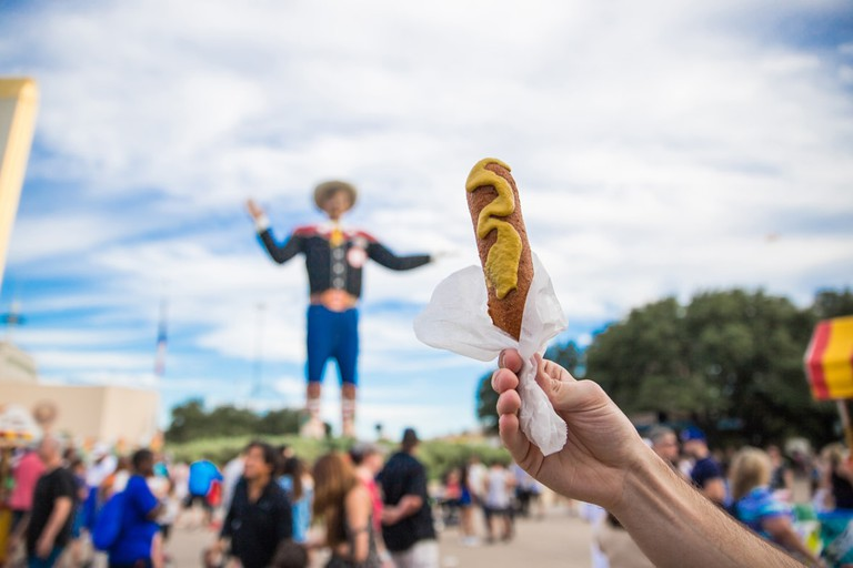 The State Fair of Texas is known for creative foods, entertainment, and its cowboy greeter, Big Tex