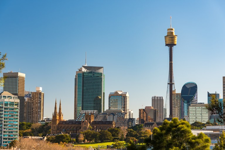 Sydney's skyline, including the Sydney Tower © Olga Kashubin / Shutterstock