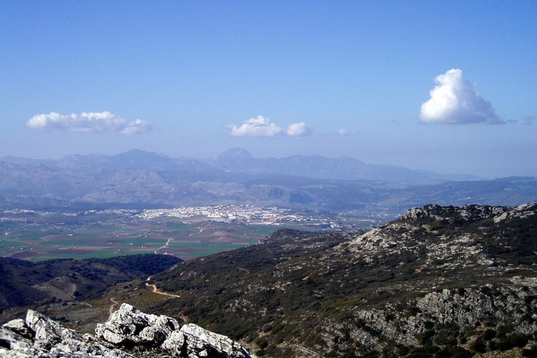 Ronda as seen from the Grazalema Natural Park