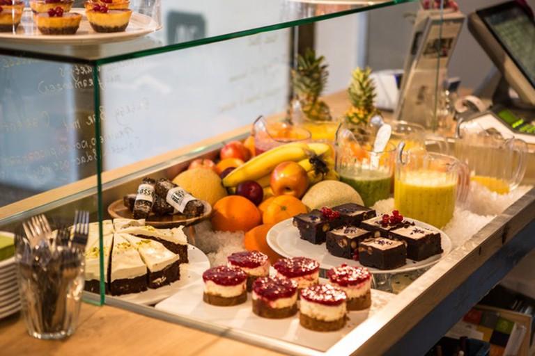 A spread at Café Blossom