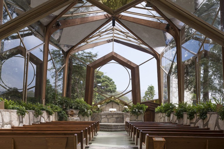 The Wayfarers Chapel in Los Angeles.