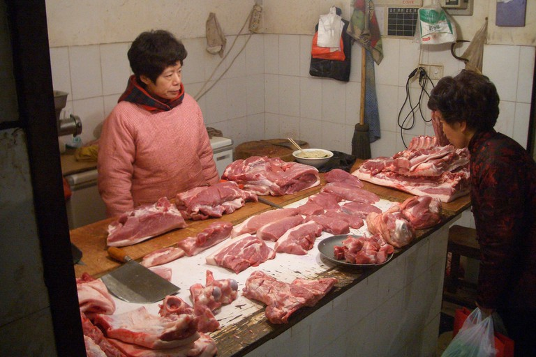 Fresh Pork from the Wet Market