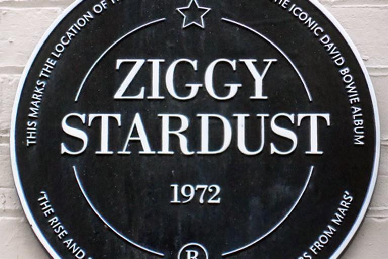 Bowie plaque, Heddon Street