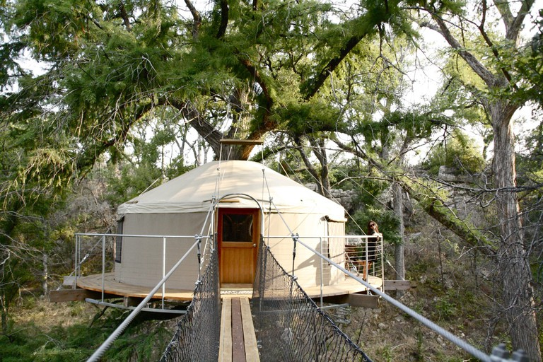 Cypress Valley Canopy Tours has two spectacular treehouses