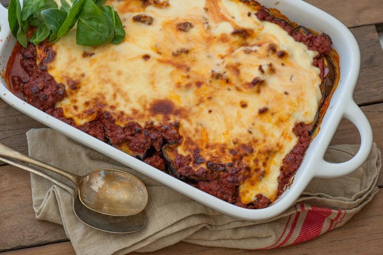 Moussaka with bechamel