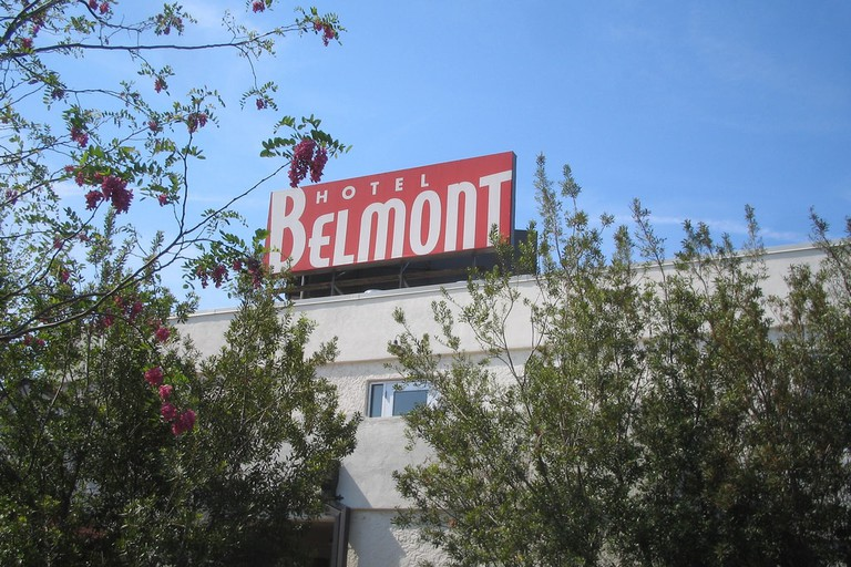 The Belmont Hotel is a vintage-style hotel with great views of downtown Dallas