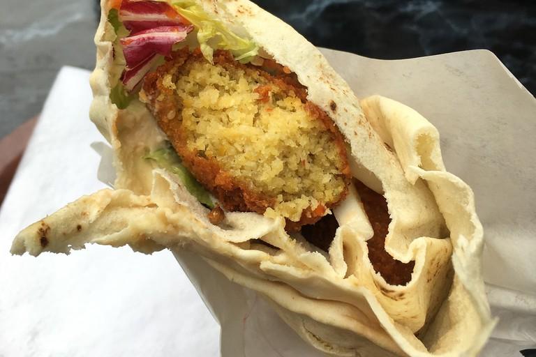 Vegan falafel wraps at Esra, Berlin