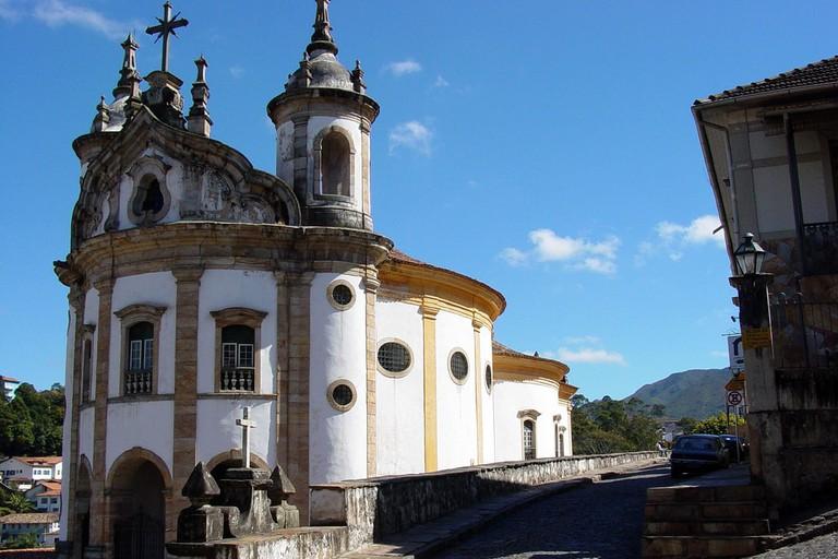 The Nossa Senhora do Rosário church in Ouro Preto
