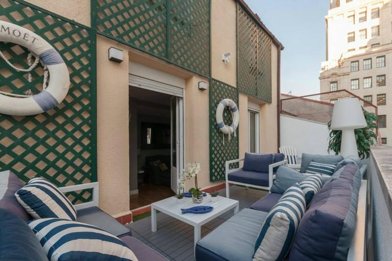 Gran Vía apartment with terrace