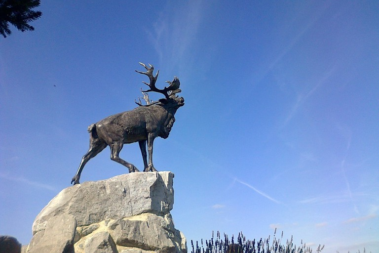 The bronze caribou at Beaumont-Hamel, France