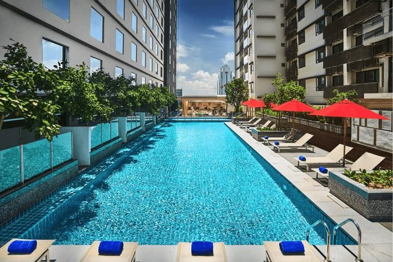 Pool area of Amari Johor Bahru