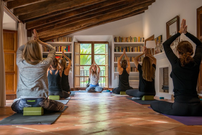 Yoga sessions at Ananda Mallorca