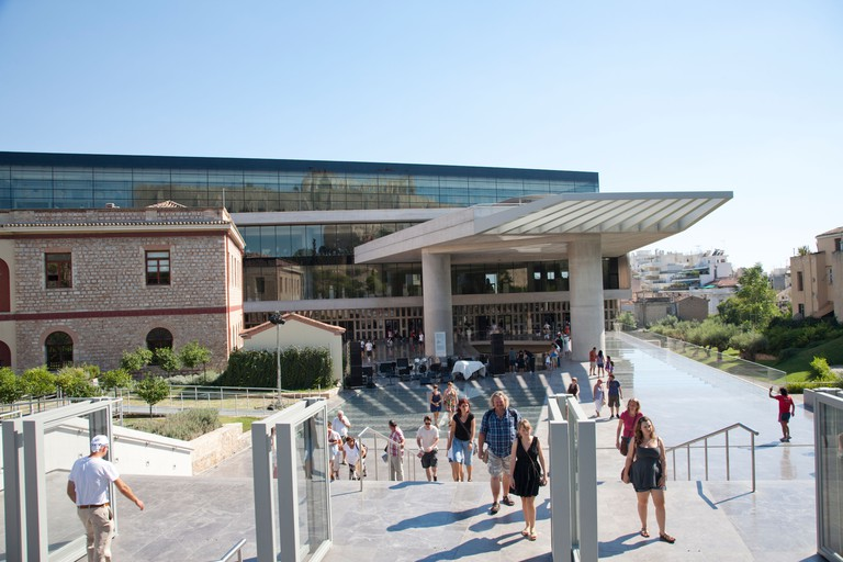 A modern building in an ancient city, the Acropolis Museum's design combines past and present