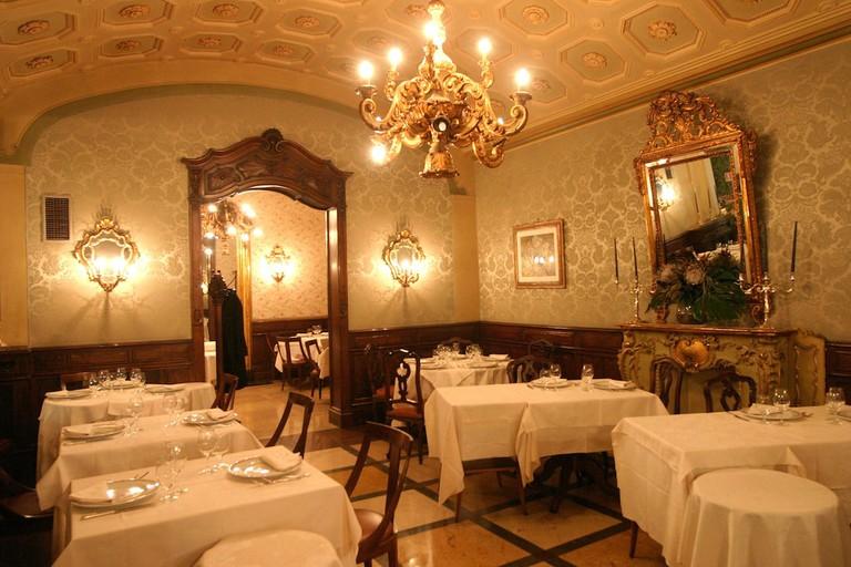 Antique Art Nouveau furniture and design at Caffé Torino in Turin | Courtesy Caffé Torino
