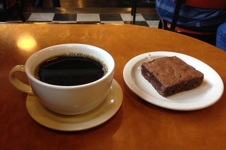 Coffee & a brownie