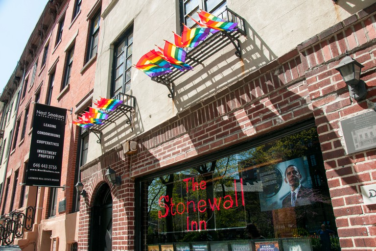 The Stonewall Inn on Christopher Street in Manhattan New York City, USA