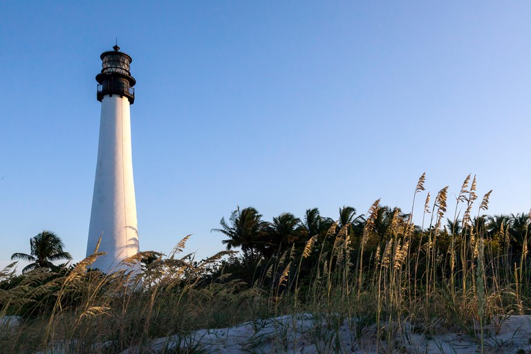 Historic Cape Florida Lighthouse located in the Bill Baggs Cape Florida State Park