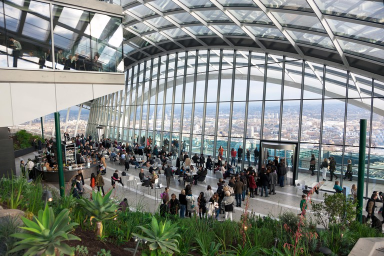 Sky Garden at the top of 20 Fenchurch Street in London
