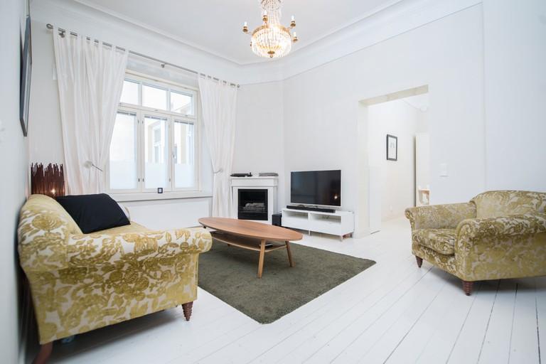 A Helsinki Airbnb apartment.