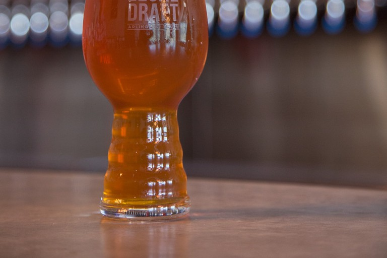 Legal Draft Beer Co. is a locally-owned Arlington brewery with a lively taproom