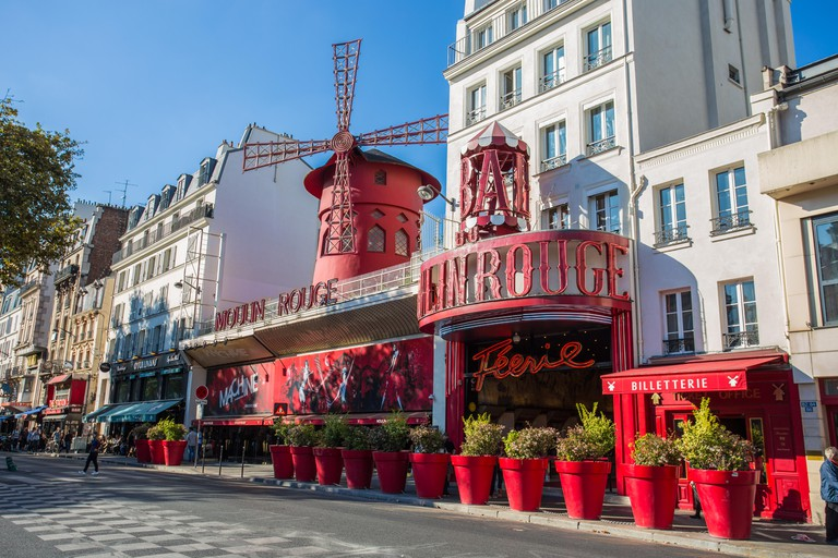 The Moulin Rouge in Montmartre Paris, France,