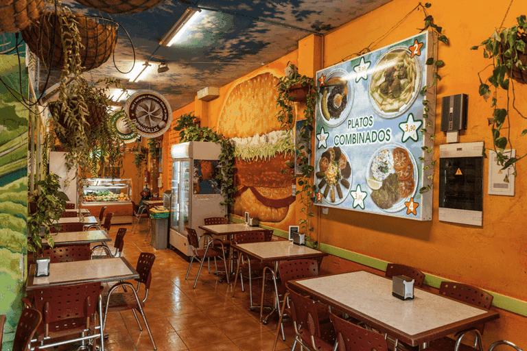 Colourful interiors at Burger Mel