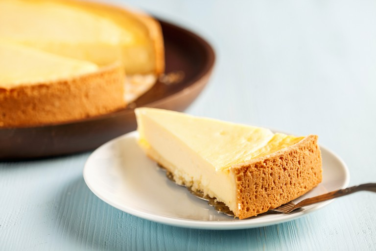 Cheesecake is among the selection at Two Little Red Hens, known as a go to destination for cakes and pies.
