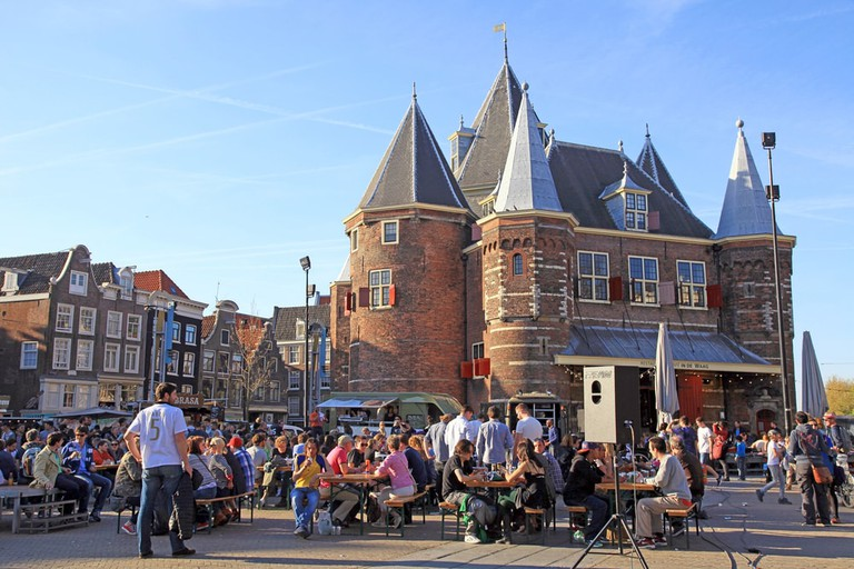 Nieuwmarkt square in center of Amsterdam, Netherlands | © InnaFelker/Shutterstock