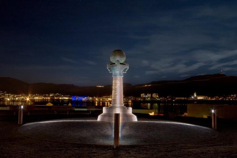 Struve geodetic arc, the Meridian column, Courtesy of Visit Hammerfest