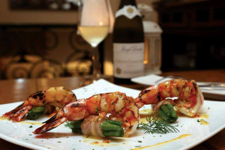 Tiger prawns at La Cuisine