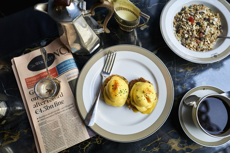 The Wolseley is somewhere between a Parisian brasserie and a Viennese café