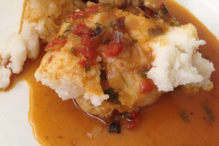 ugali and fish