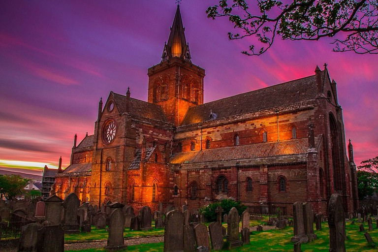 St Magnus Cathedral At Sunset
