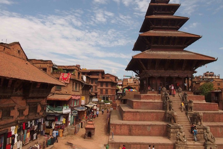Bhaktapur's Nayatapola Temple was built in the early 18th century