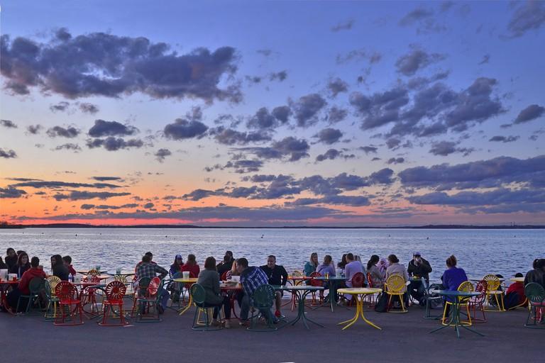 Sunset at Memorial Union Terrace   © Richard Hurd / Flickr