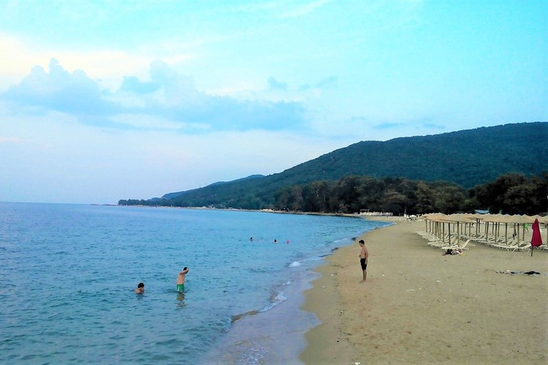 Stavros beach, the gateway to Halkidiki