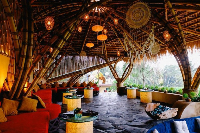 The dreamy Akasha Restaurant in Ubud, Bali.