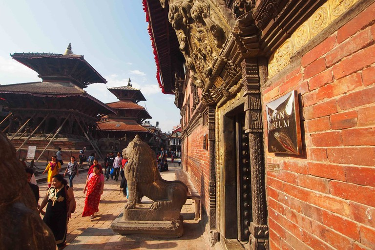 The entrance to the Patan Museum, in the Patan Durbar Square