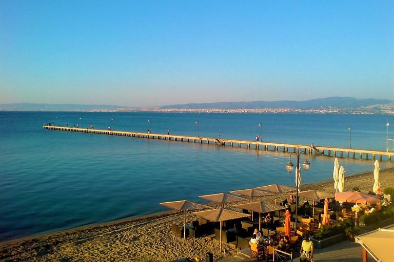 Peraia beach, a resort in Thessaloniki