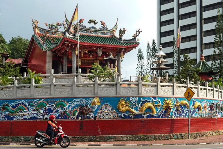 At the Chinese Tua Pek Kong Temple, the oldest temple of Kuching, Sarawak, Borneo, Malaysia