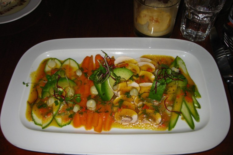 Vegetarian ceviche at Greens Organic in Cusco