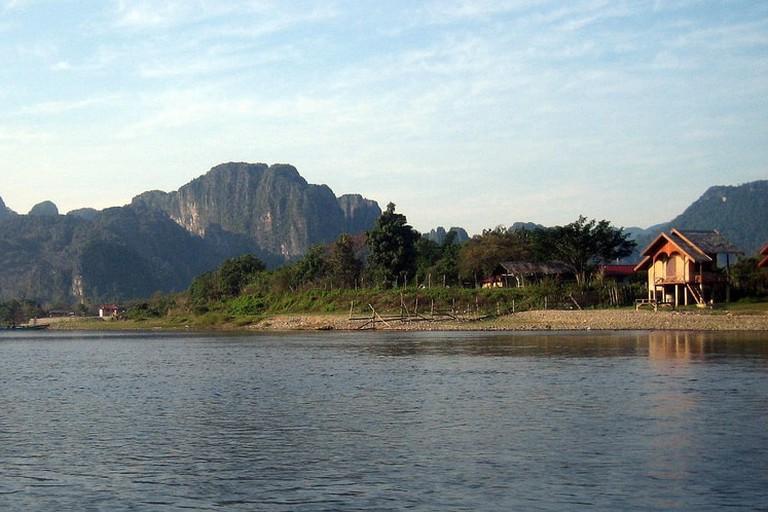 Nam Song river scenery