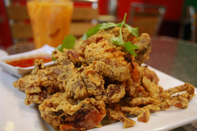 Deep-fried crab