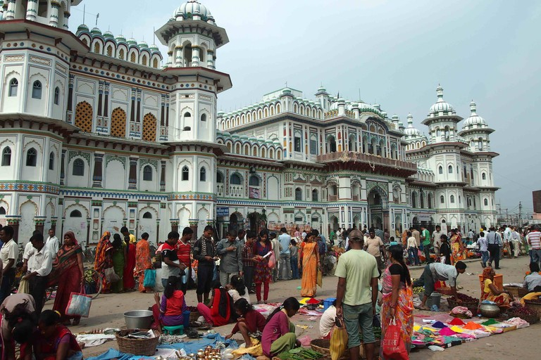 The Janaki Mandir is an important Hindu pilgrimage site